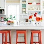 red and white country kitchen