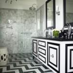 Black and White Geometric Floors