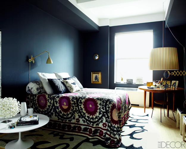 Dark boho chic bedroom panda 39 s house for Bedroom ideas dark blue