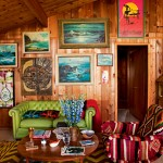 vintage boho lounge room