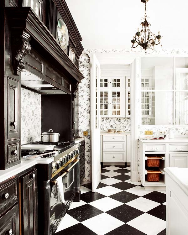 A Kitchen In Black And White Panda 39 S House