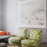 green ikat chairs