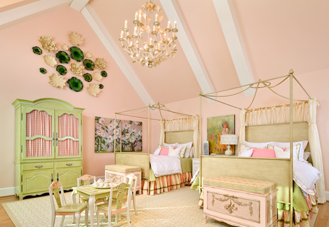 pink and green bedroom for girls panda s house pink and green rooms hgtv