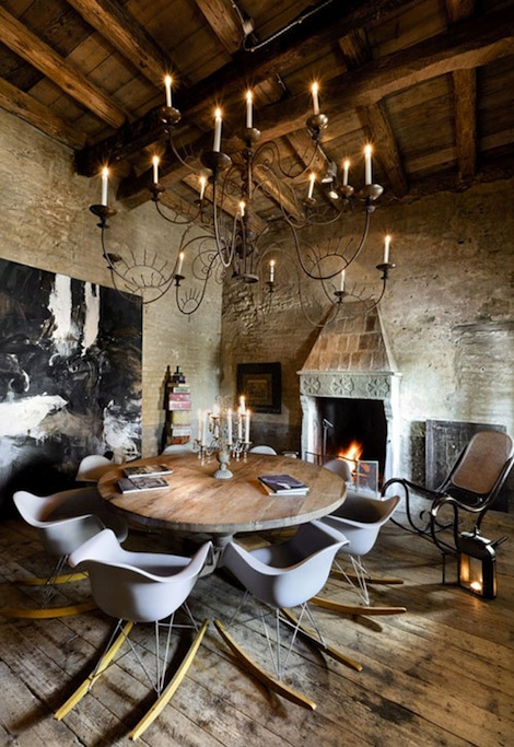 Italian rustic spaces panda 39 s house for Italian dining room decorating ideas