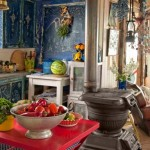 Blue and Red Rustic Beach House