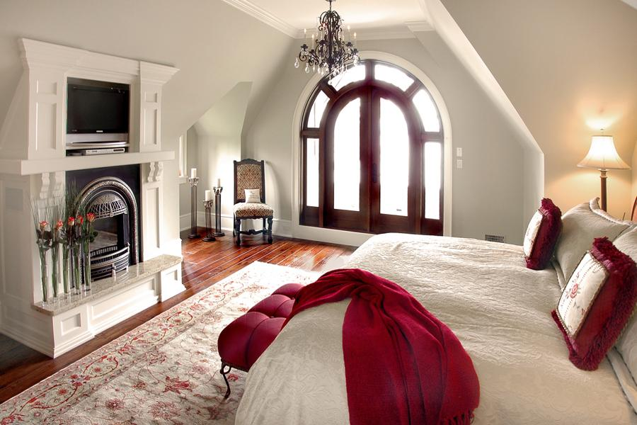 Traditional Bedroom In Red And White Panda 39 S House
