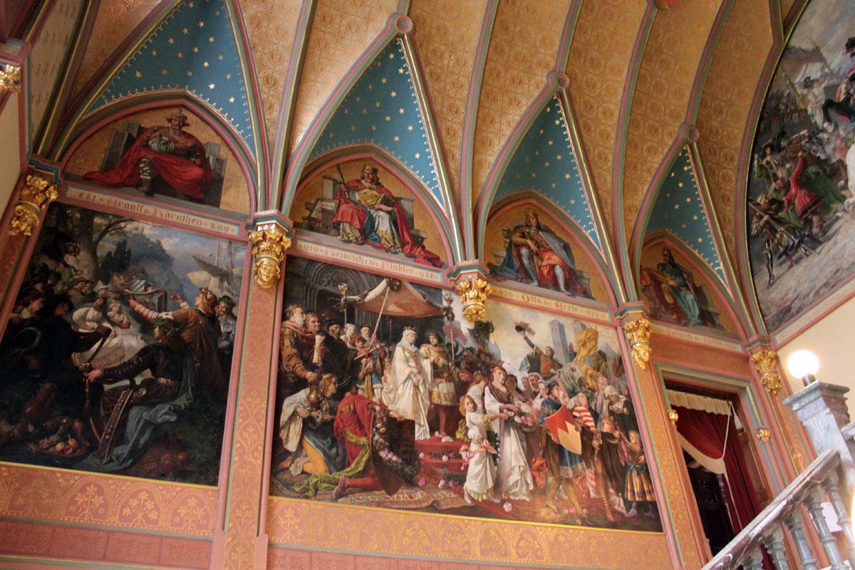 Dragon Castle Schloss Drachenburg Germany Interior 6