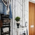 tree wall paper interior