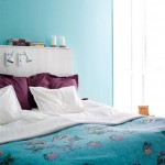 blue and purple bedroom modern design