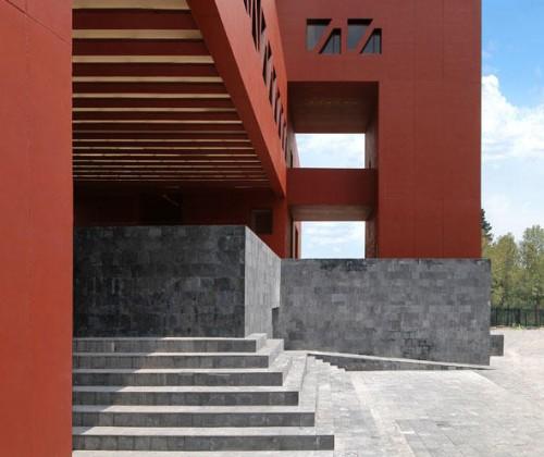UNAM university mexico red architecture