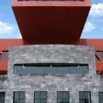 UNAM university mexico red architecture