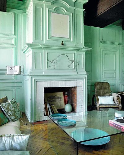 Mint Green Kitchen Paint: Some Mint Green On The Inside