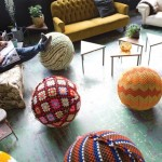 knitted ootstool