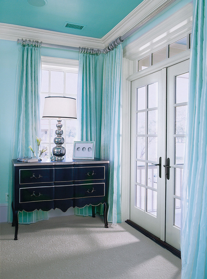 Turquoise And Silver Curtains Gold and Turquoise Curt
