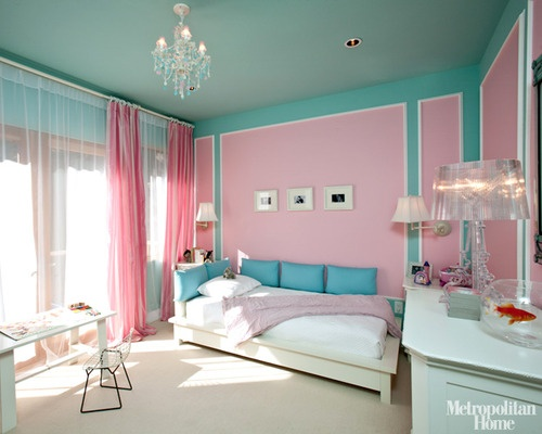 Aqua and pink interiors panda 39 s house - Turquoise and pink bedroom ...