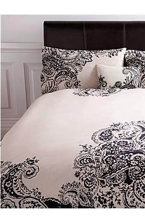black and white paisley bedding