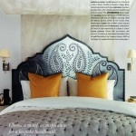 paisley pattern headboard