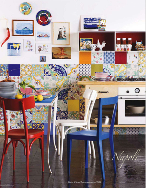 colorful tiles kitchen