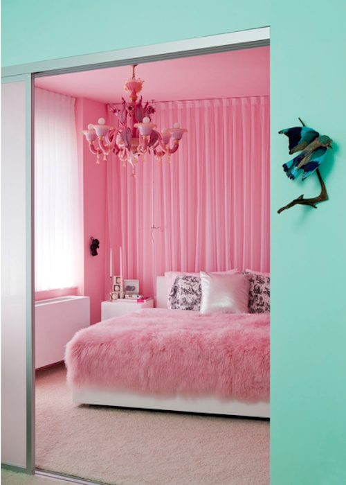 aqua and pink interiors panda 39 s house