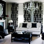 Black and White Living Room Glamour