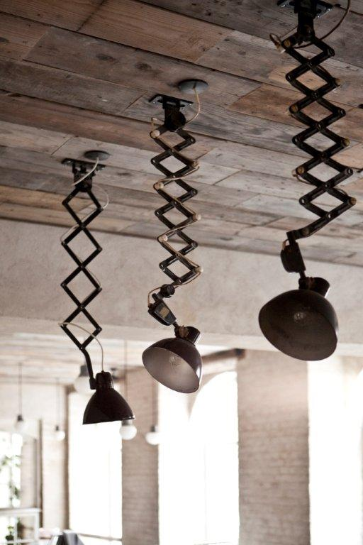 grey-industrial-dining-3-scissor-lamps