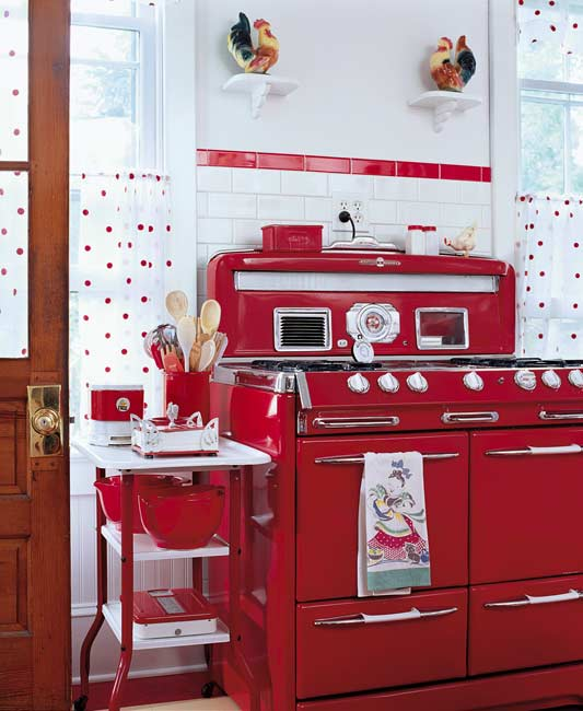 red retro kitchen panda 39 s house. Black Bedroom Furniture Sets. Home Design Ideas