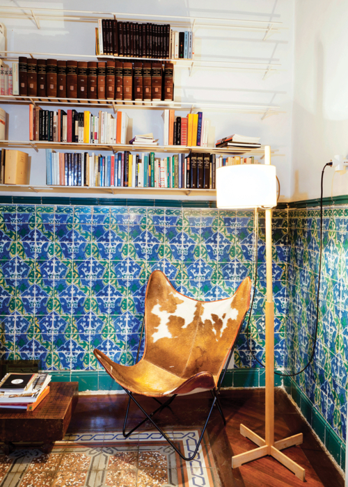 tiled living room walls