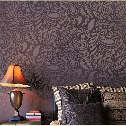 paisley pattern walls