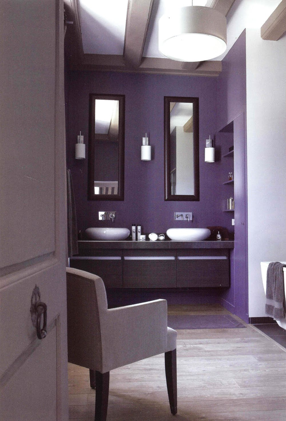 Purple archives panda 39 s house 34 interior decorating ideas for Bathroom ideas violet