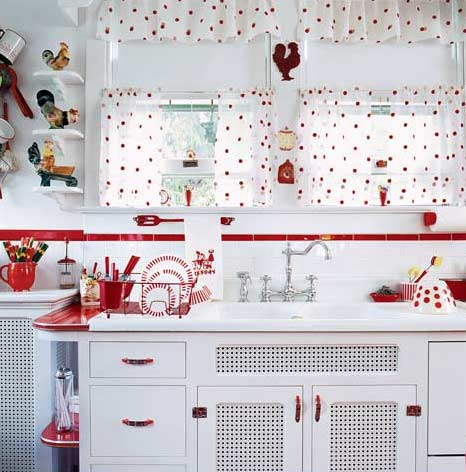 Red Retro Kitchen Pandas House