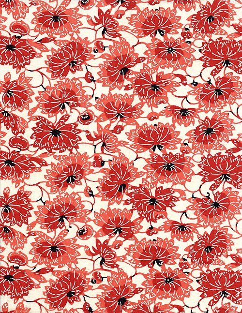 red japanese paper pattern 10
