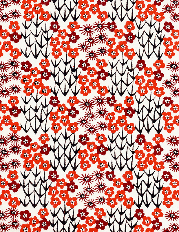 red japanese paper pattern 5