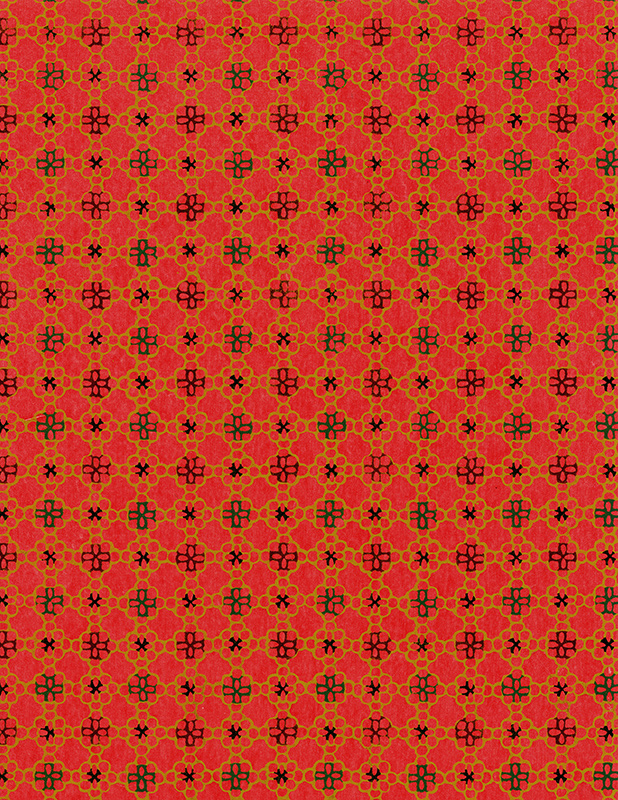 red japanese paper pattern 6