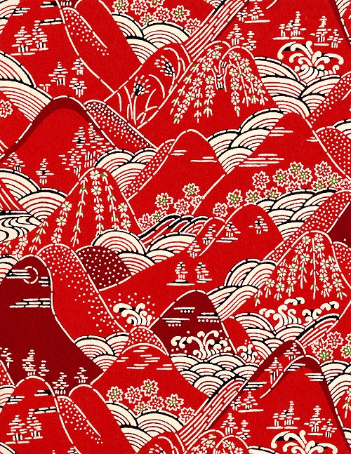 red japanese paper pattern 7