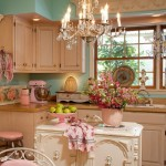 shabby chic kitchen in pastel colors