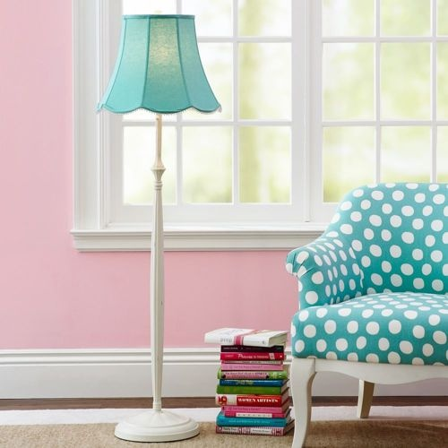 aqua and pink living room