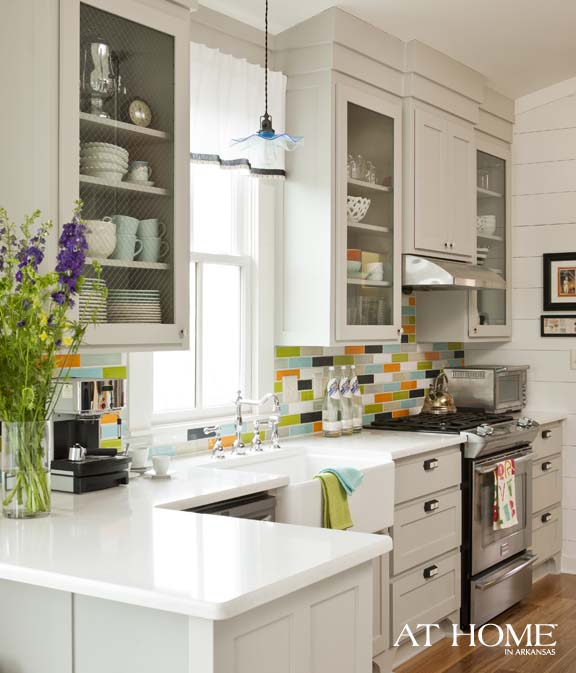 white yellow and lime kitchen