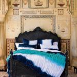 blue tie dye bedding