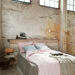 industrial styled bedroom