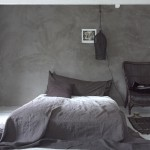 industrial bedroom design in grey