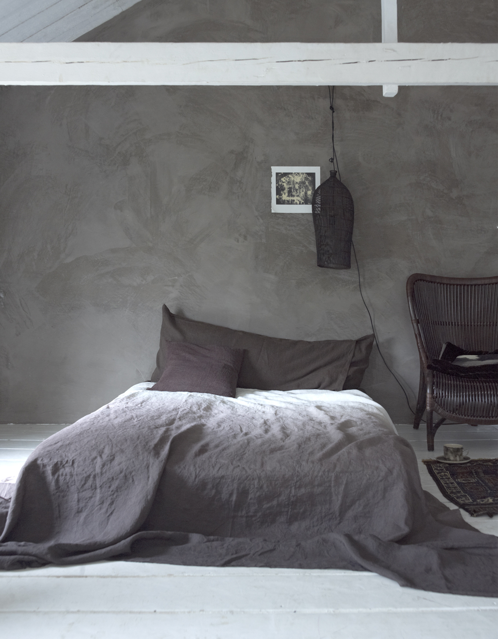 Industrial bedroom design in grey panda 39 s house Industrial bedroom