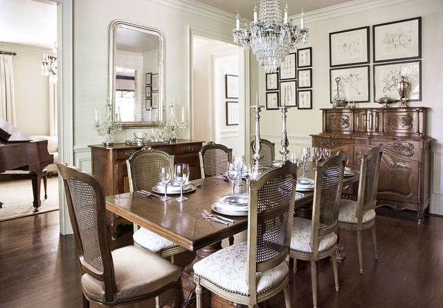 English country dining room