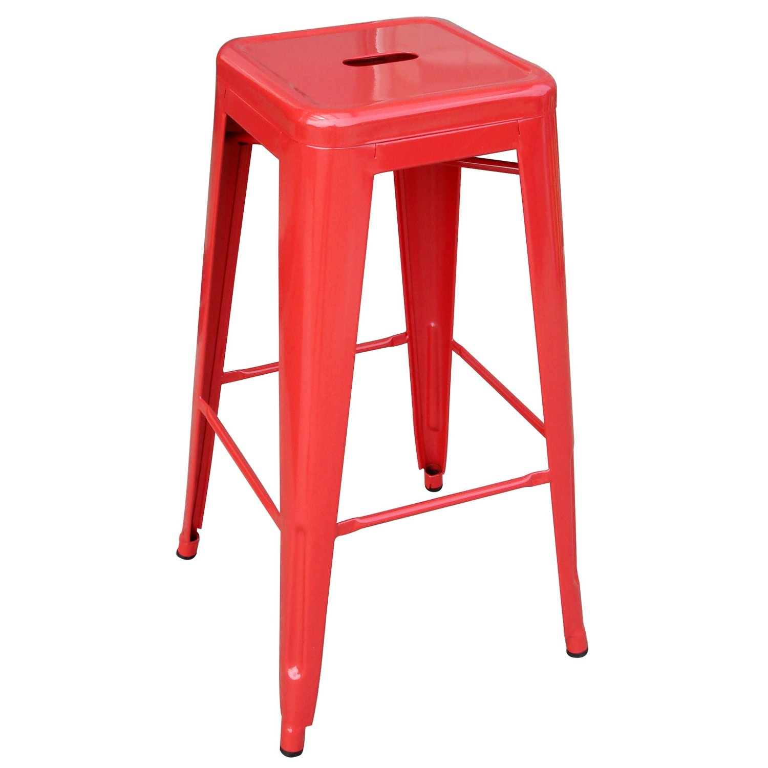 buy red metal stools