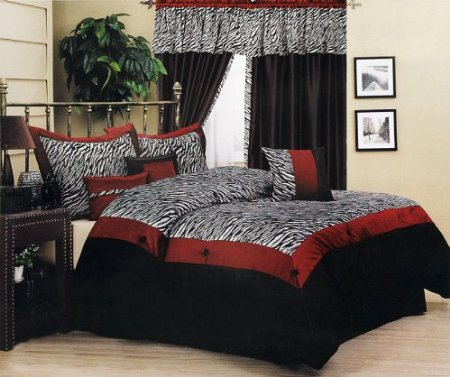 Red And White Zebra Bedroom Set Home Decorating Ideas