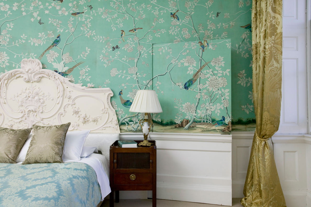 turquoise chinoiserie