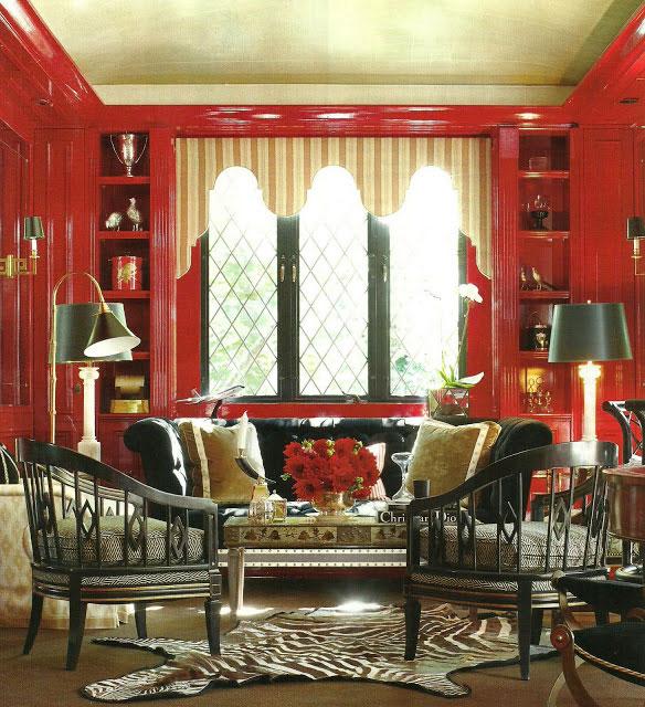 interior red study