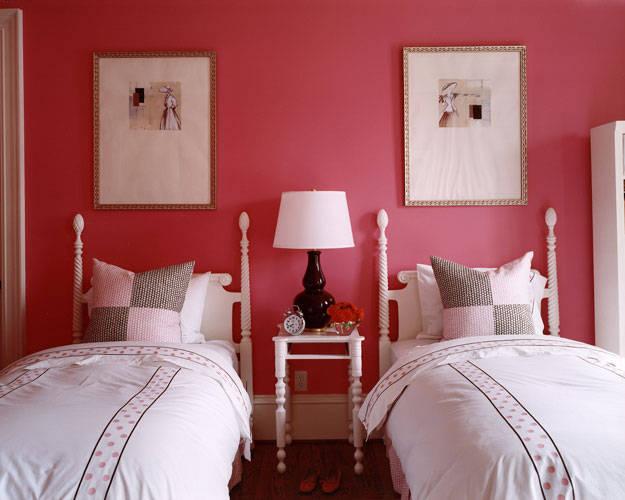 red bedroom interior design
