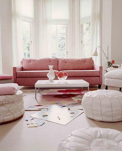 Bazaar Style Decorating with Market and Vintage Finds selina lake pink living