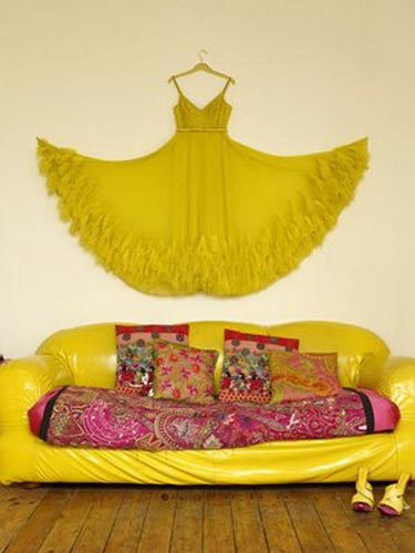 Bazaar Style Decorating with Market and Vintage Finds selina lake yellow living