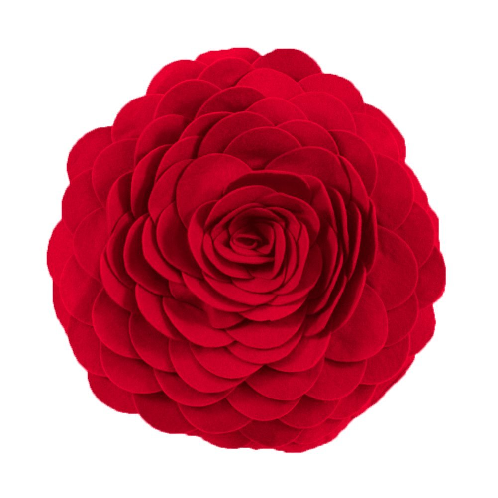 red flower Decorative Throw Pillow